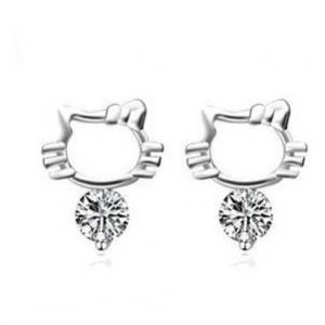 China Goujon TJ0083 d'oreille d'argent sterling des boucles d'oreille 925 de Hello Kitty on sale