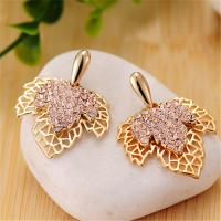 China Fashion Accessories Costume Classic Maple Leaf Pendant Earrings Hollow Earrings for Women Party Wedding Earrings on sale