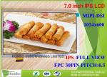Bright Mipi Thin Lcd Display , 30 Pin Lcd Display 7 Inch 1024 * 600 Resolution