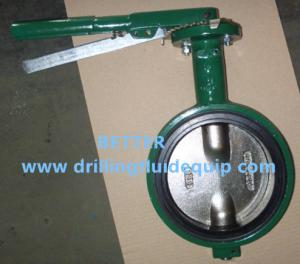 China DEMCO Butterfly Valves Wafer Type Equivalent to CAMERON MUDKING DEMCO BFV on sale
