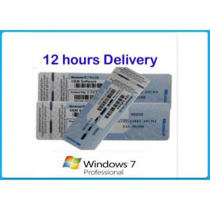 China Microsoft Windows 7 Product Key Codes Genuine OEM License activation online Upgrade win8.1 / win10 on sale