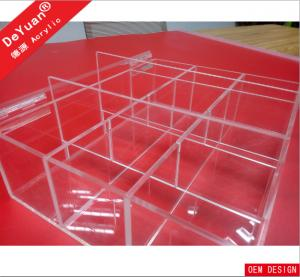 China Creative Desktop Clear Acrylic Makeup Organizer with Adjustable Dividers on sale