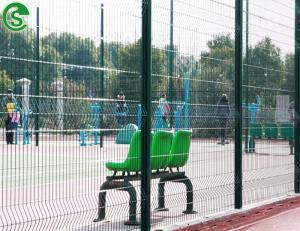 China Playground / Sports field Green color Ornamental Welded Wire Mesh Fence Edging(guangzhou) on sale