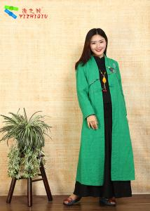 China Chinese Traditional Costume Female Hanfu Long Embroidered Coat Concise And Easy on sale