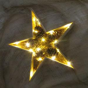 China led wood star christmas light fairy led holiday light home decoration table decoration on sale