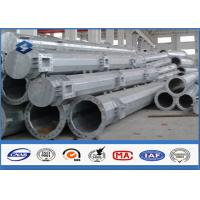 China Q345 steel utility poles 50 years Life Time , steel light pole with Base Plate/ Anchor Bolts / Climbing Rungs on sale