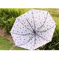 Creative Candy Color Polka Dot Umbrella Long Handle Green Frosted Color