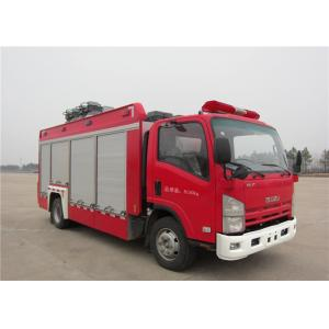 China 6 Forward Gear Light Up Fire Truck , Pneumatic Lifting Poker Heavy Rescue Fire Truck on sale