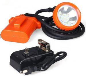 China High Powered LED Miners Cap Lamp / Coal Miners Headlamp With Rechargeable Battery on sale