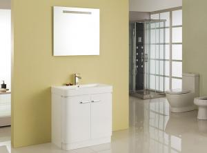 China Free Standing White Flush Color Square Sinks Bathroom Vanities ISO2000 Standard on sale