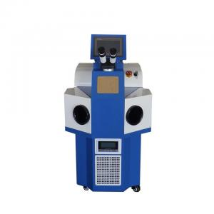 China Jewelry Gold Laser Spot Welding Machine / Slivery Ring Mould Mini Laser Welder on sale