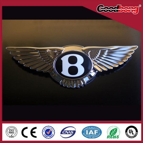 Custom Professional Chromed Abs Car Logo With Led Light For Sale