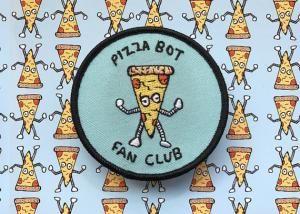 China Cute Club Embroidered Logo Patches , Collectible Custom Embroidered Badges on sale