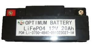 China Rechargeable Lithium Iron Phosphate Batteries For Electric Scooter 12 Volt 20ah on sale