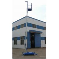 China Aluminum Double Mast Mobile Aerial Work Platform 10m Lifting Height on sale