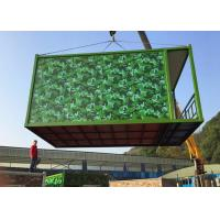 China Army Green Flat Pack Container House PVC Flooring With Basic Configuration on sale