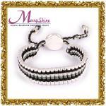 Fashionable white, black combined links friendship bracelets for girls ornament LS028