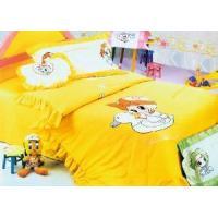 Silk Bedding Set, Kid Bedding, Carton Bed Sheet, Luxury, Comfortable, Soft (HY-CN011)