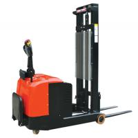 1.2 Ton Electric Pallet Stacker / Walkie Pallet Lift Stacker For Small Working Aisle