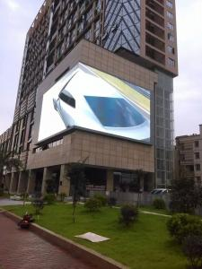 China P10 Outdoor Advertising LED Display 1920Hz Right Angle Screen DIP3.8 V/40A Supply on sale