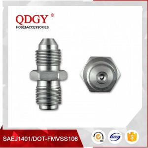 China BLEED NIPPLE FITTING MALE TO MALE RESTRICTOR ADAPTER 7/16 X 20 UNF (-4 JIC) TO 7/16 X 24 GARRETT GT  SERIES TURBO on sale