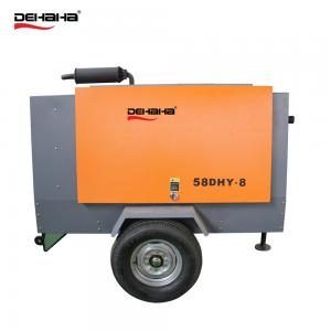 China Coupling Driven / Diesel engine Diesel driven portable screw air compressor on sale