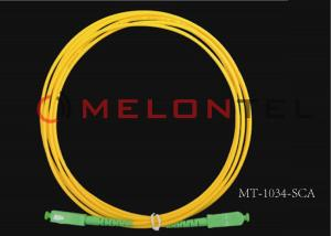 China Single Mode SC/APC to SC/APC Optical Fiber Patch Cable on sale