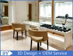 Custom Simple Gloss White Jewelry Display Cases In Pre Assemble
