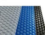 4M * 9M PVC Swimming Pool Part 500 Um Bubble Solar Pool Cover Length Customized