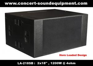 China 4ohm 1200W Concert Sound Equipment  2x18\ Horn Loaded Subwoofer For Concert , Disco And Nightclub on sale