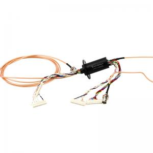 China 24 Circuits LPC-1C2402 Rotary Electrical Interface , A Compact Design With Gold-Gold Contacts on sale