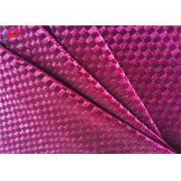 China Polyester Engraving Printing Knitted Stretch Velvet Fabric , Shiny Tartan Fabric on sale