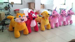 China Hansel High quality plush animal design electric kids entertainment plush ride on sale