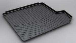 China Thermoplastic Elastomers Peugeot 308 Boot Liner / Trunk Mat Black / Tan on sale