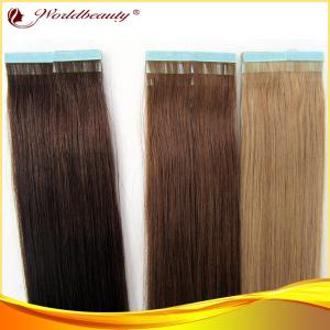 China Virgin Double Sided Tape Hair Extensions 16 Inch With Mixed Color on sale