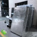 External Powder Coated Metal panel Aluminium Facade Customized metal cladding supplier