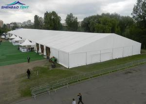China 1000 People Large Marquee Tent , White PVC Roof Cover Outdoor Luxury Party Tents on sale