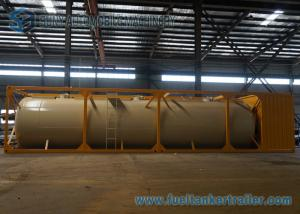 China Horizontal 45m3 Cement Dry Bulk Tanker Trailer 40 Foot Container on sale