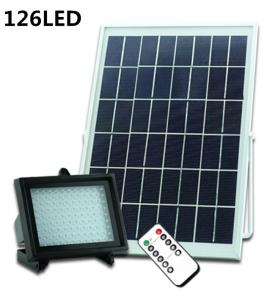 China Solar Powered LED Flood Light Remote Controller Garden Light LED Floodlight Outdoor Emergency Camping Lights on sale