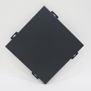China Waterproof Aluminum Wall Panels / Exterior Wall Cladding Black Color on sale