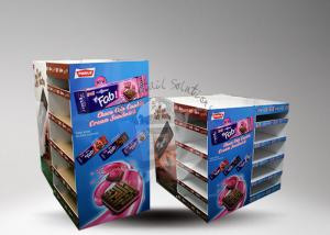 China Customized printed cardboard pallet display with two sides showing for cookies on sale