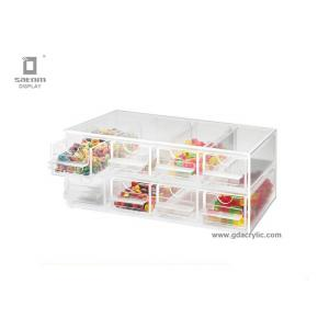 China Small / Middle / Large Clear Acrylic Sweet Display Case With Sliding Drawers supplier
