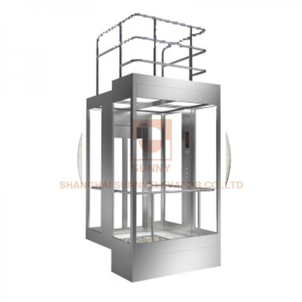 Panorama Elevator Car Design , Machine Elevator Parts With