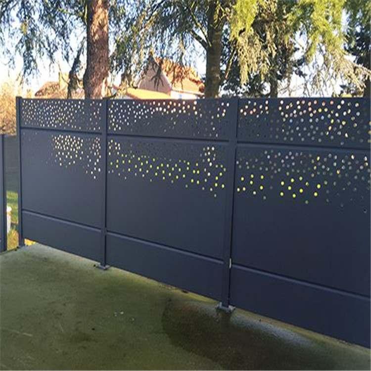 Outdoor Laser Cut Decorative MS Balcony Railing or aluminum