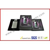 Purper Matt Paper Grey board Electronics Packaging , Customized Mobile Phone / GPS Packaging Boxes