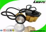 10.4Ah Battery Mining Cap Lights 25000lux Brightness Cable Flashing Headlamp