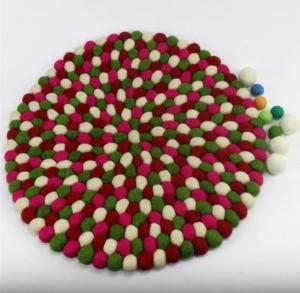 China eco friendly handmade wholesale wool felt ball coaster DIY for home decoration on sale