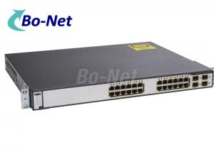 China Cisco Catalyst 3750 24 Port Gigabit PoE Network Ethernet Switch WS-C3750G-24PS-S Used Cisco Switches on sale