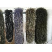 Extra Large Raccoon Furry Necks Collars,  Warm Dyed Winter Coat Replacement Fur Collar