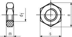M14-1.5/M14-2.0 Chamfered Hexagon Thin Nut DIN439,ZINC Plated,Grade 4.8